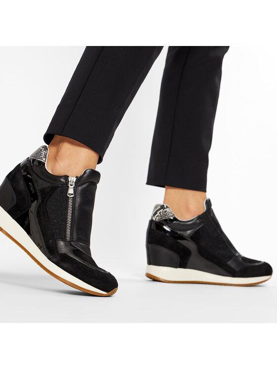 Geox Geox Sneakersy D Nydame A D620QA 08522 C9997 Czarny