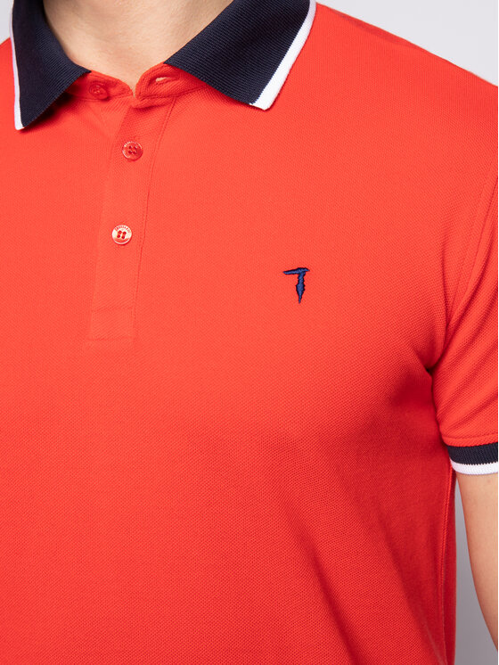 Trussardi Trussardi Polo 52T00344 Czerwony Regular Fit