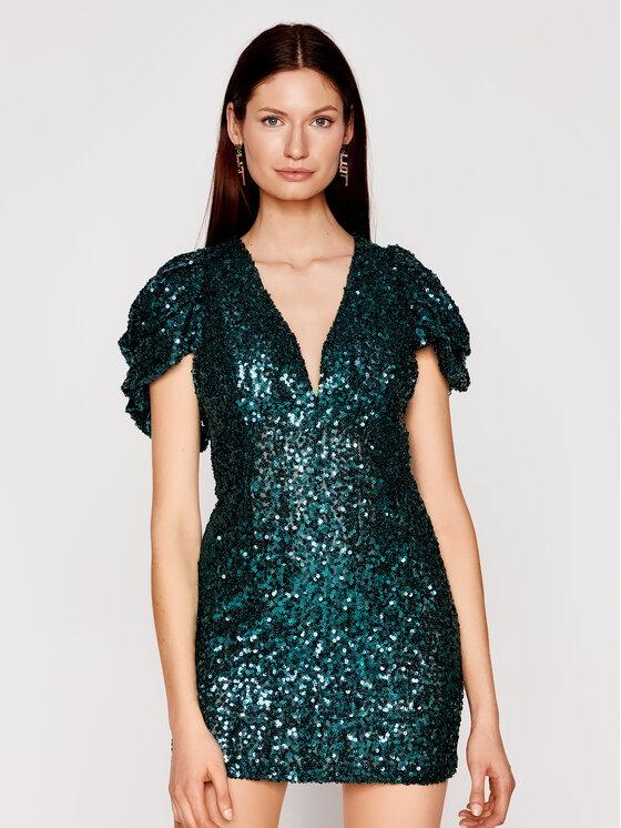Babylon Kokteilinė suknelė N_S00996 Žalia Slim Fit
