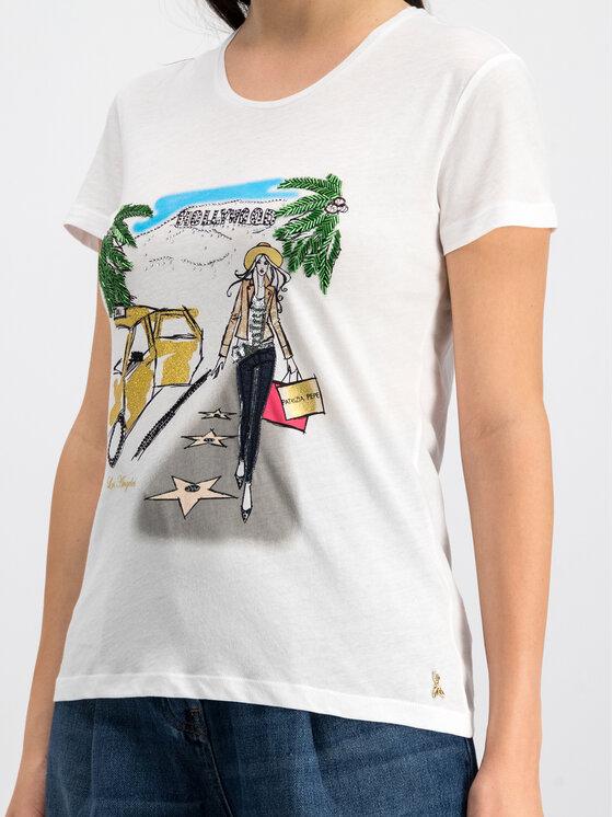 Patrizia Pepe Patrizia Pepe T-Shirt 8M0796/A4S2-J2EU Biały Regular Fit
