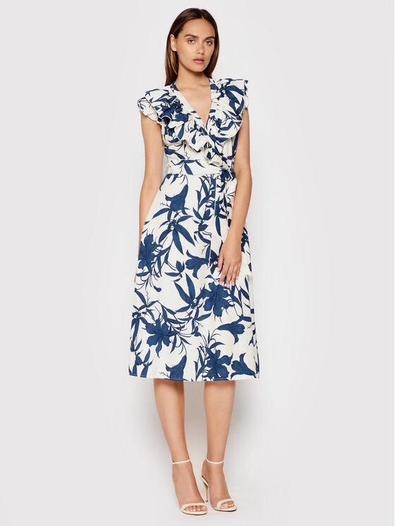 Rinascimento Kasdieninė suknelė CFC0017901002 Tamsiai mėlyna Regular Fit