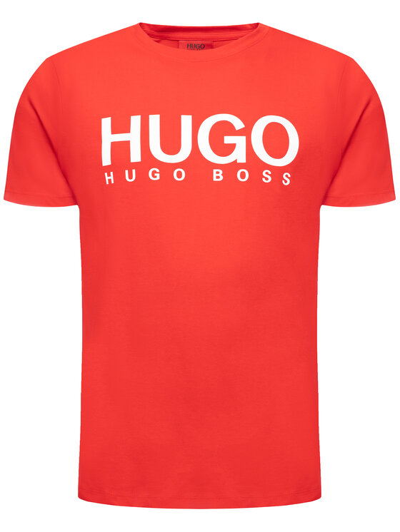 Hugo Hugo T-shirt 50387414 Rouge Regular Fit