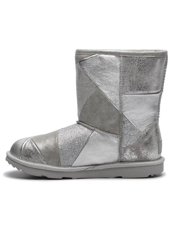 Ugg Ugg Schuhe Kids' Classic Short II Patchwork 1096431K Silberfarben