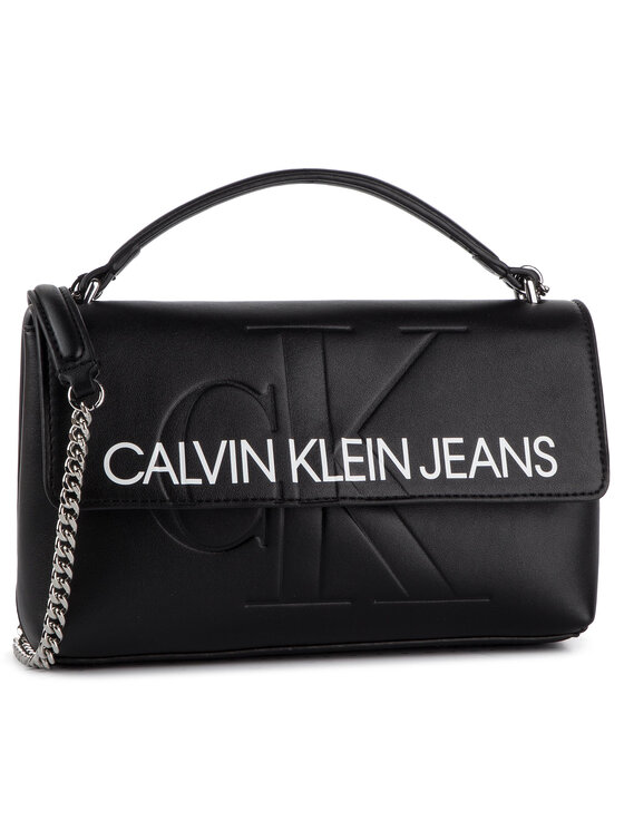 Calvin Klein Jeans Calvin Klein Jeans Táska Sculpted Monogram E/W Flap K60K605523 Fekete