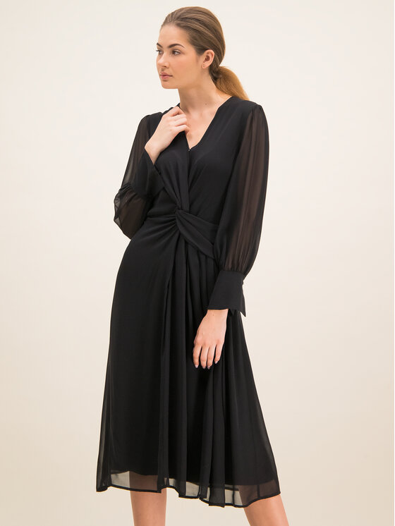 Laurèl Kokteilinė suknelė 11004 Juoda Regular Fit