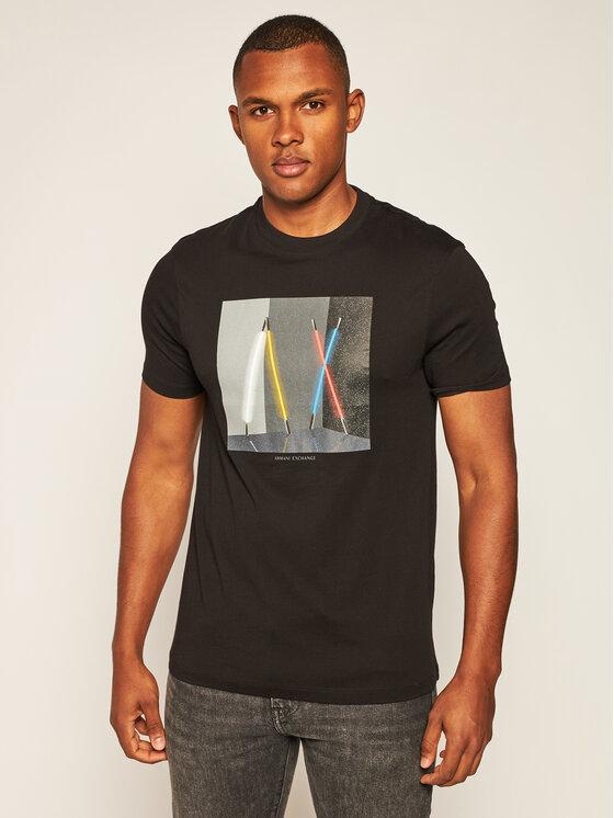 Armani Exchange Armani Exchange T-Shirt 6HZTLA ZJH4Z 1200 Černá Regular Fit