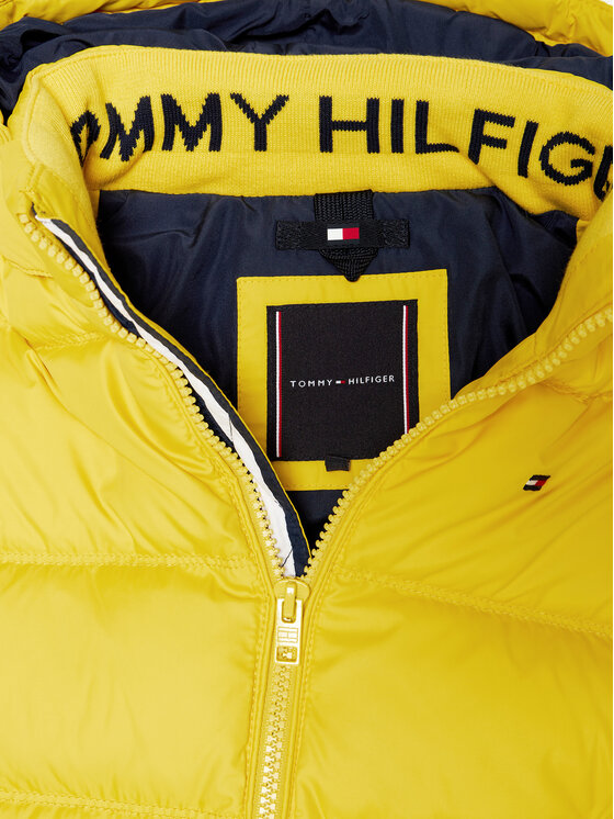 Tommy Hilfiger Tommy Hilfiger Kurtka puchowa Essential KB0KB05879 D Żółty Regular Fit