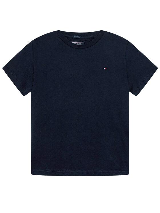 Tommy Hilfiger Tommy Hilfiger T-Shirt KB0KB04140 D Granatowy Regular Fit