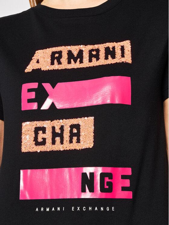 Armani Exchange Armani Exchange Tričko 3HYTAB YJ73Z 1200 Čierna Regular Fit