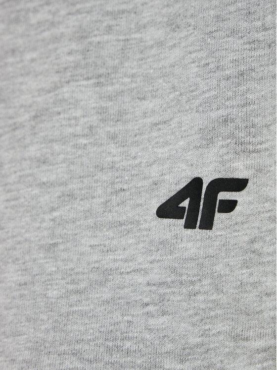 4F 4F Szorty sportowe HJL21-JSKMD001 Szary Regular Fit