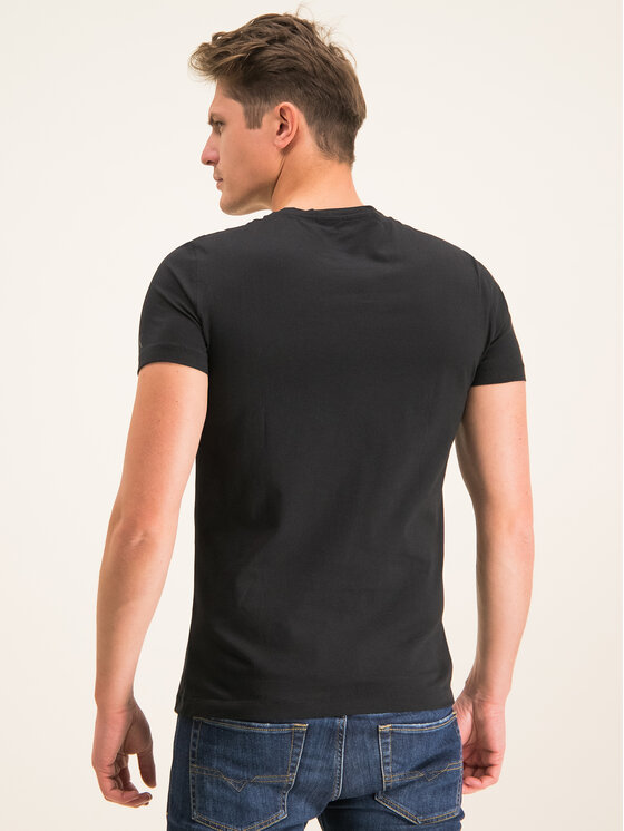 Calvin Klein Jeans Calvin Klein Jeans Tričko Stacked Logo J30J314539 Čierna Regular Fit