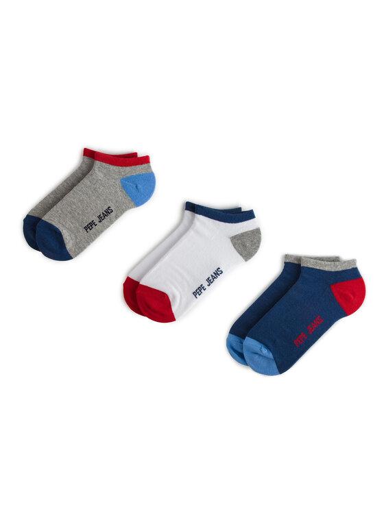Pepe Jeans Pepe Jeans Sada 3 párů nízkých ponožek unisex Elmo PMU10482 Tmavomodrá