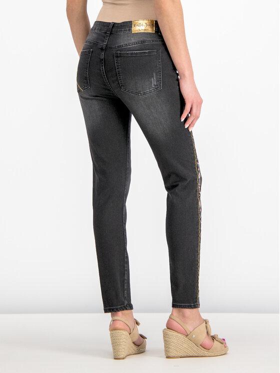 Desigual Desigual Τζιν Slim Fit 19SWDD35 Μαύρο Slim Fit