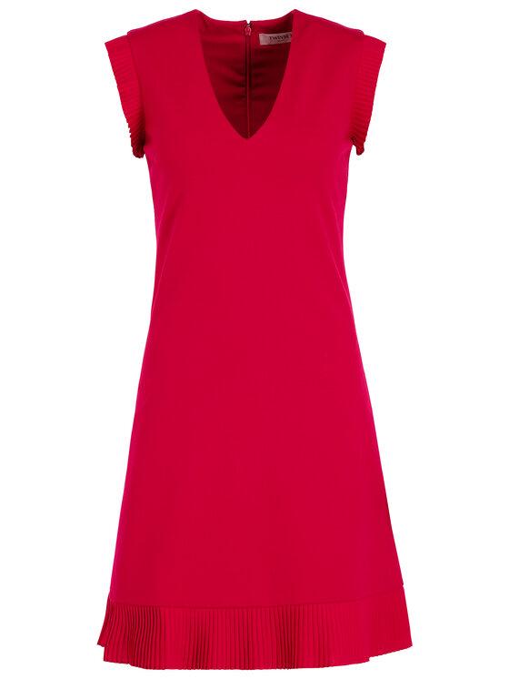 TwinSet TwinSet Koktejlové šaty 192TT2061 Červená Regular Fit