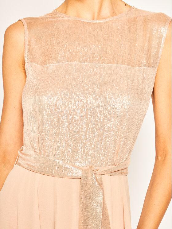 Marella Marella Коктейлна рокля Debito 32214201 Розов Slim Fit