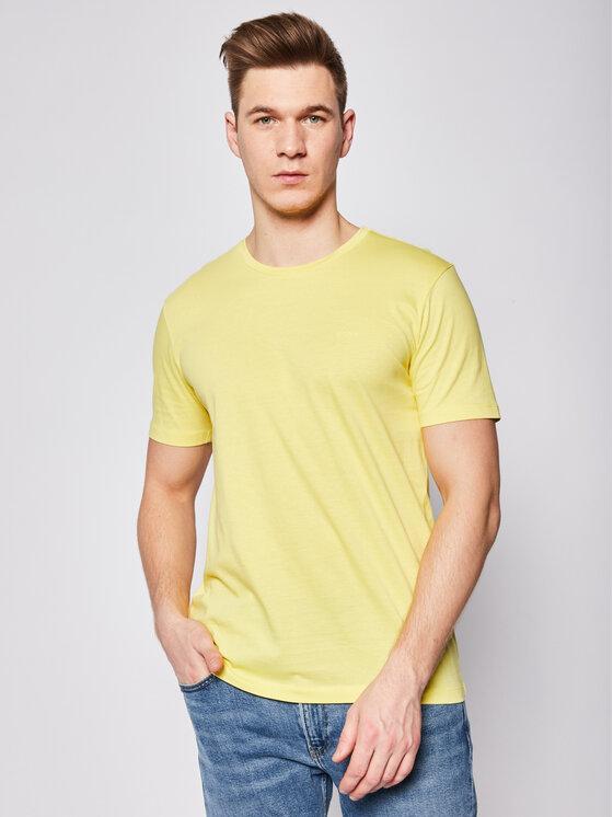 Boss Boss Marškinėliai Lecco 80 50385281 Geltona Regular Fit