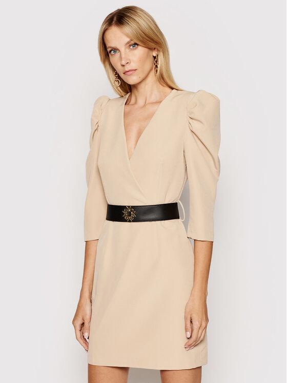 Rinascimento Kokteilinė suknelė CFC0101985003 Smėlio Slim Fit