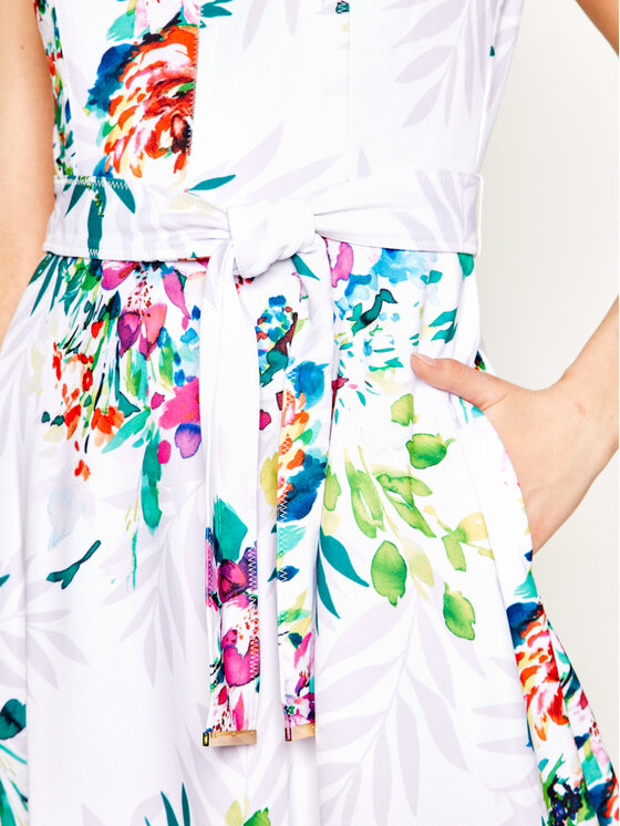 DKNY DKNY Φόρεμα καθημερινό DD0A3104 Λευκό Regular Fit