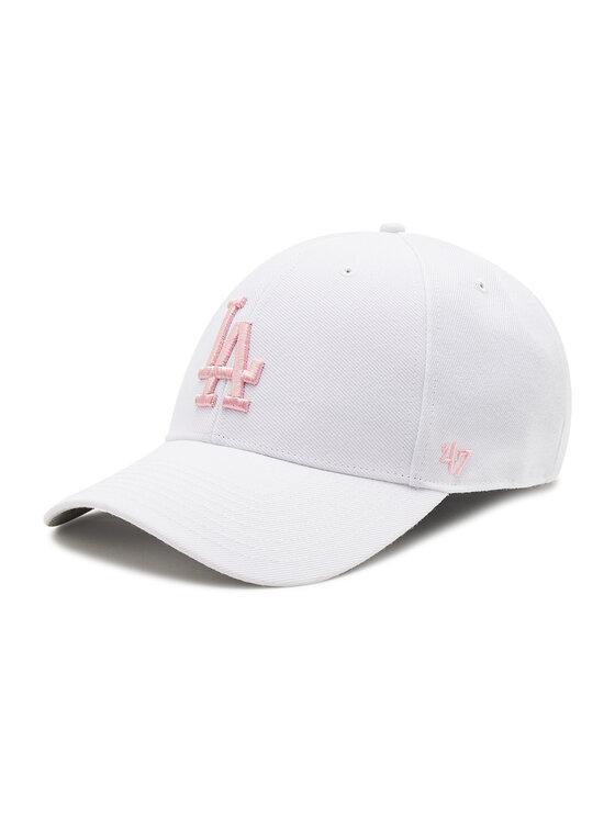 47 Brand Kepurė su snapeliu Los Angeles Dodgers B-MVP12WBV-WHD Balta