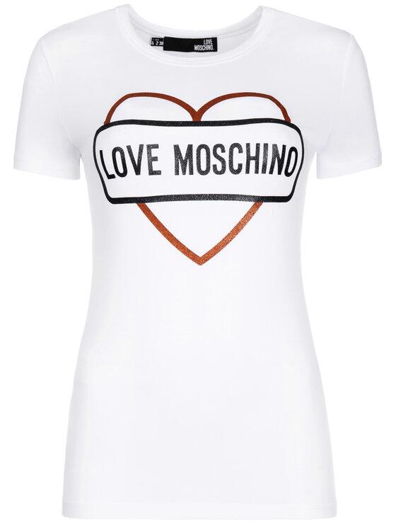 LOVE MOSCHINO LOVE MOSCHINO Tricou W4F7348E 2011 Alb Regular Fit