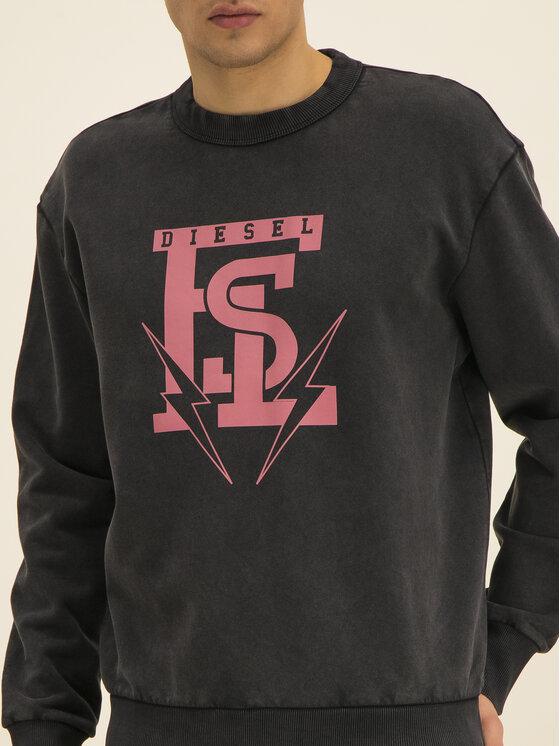 Diesel Diesel Sweatshirt Bay 00SZMK 0BAWU Noir Regular Fit