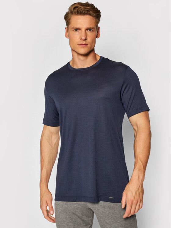 Hanro Marškinėliai Night & Day 5430 Tamsiai mėlyna Regular Fit