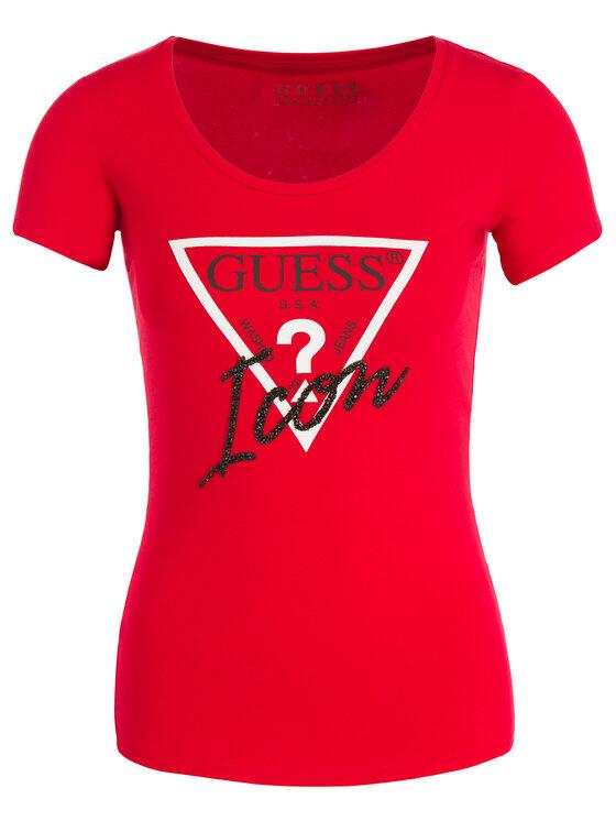 Guess Guess T-Shirt W93I89 J1300 Červená Slim Fit
