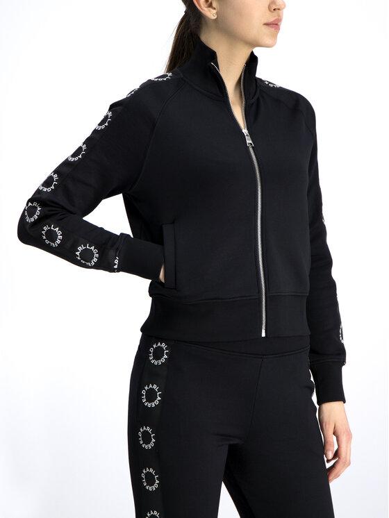 KARL LAGERFELD KARL LAGERFELD Bluza 91KW1707 Czarny Regular Fit