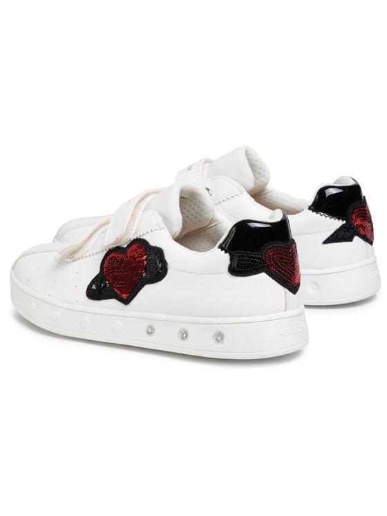 Geox Geox Sneakersy J Skylin G. C J928WC 000BC C1000 DD Biały