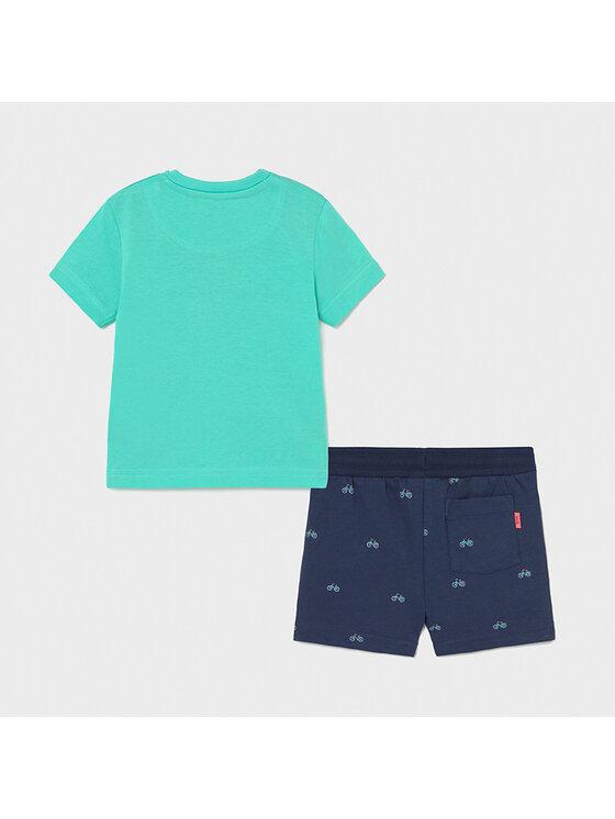 Mayoral Mayoral Komplet T-Shirt i szorty sportowe 1673 Kolorowy Regular Fit