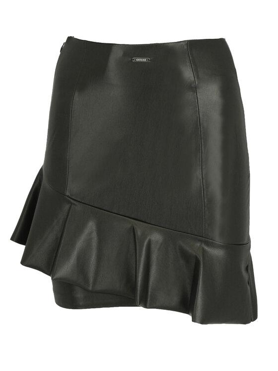 Guess Guess Spódnica skórzana W92D91 WBG60 Czarny Slim Fit