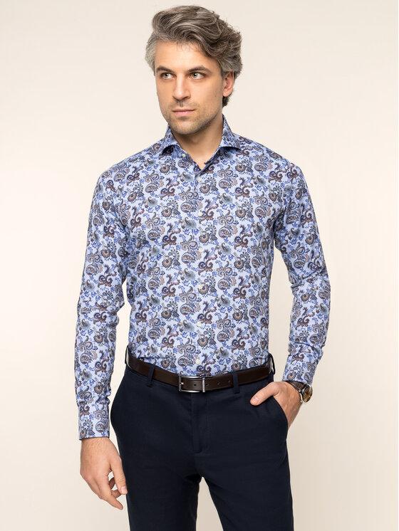 Emanuel Berg Marškiniai Hv-Harvard PEB46480 Mėlyna Slim Fit