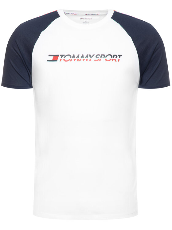 Tommy Sport Tommy Sport T-Shirt Logo S20S200196 Λευκό Regular Fit