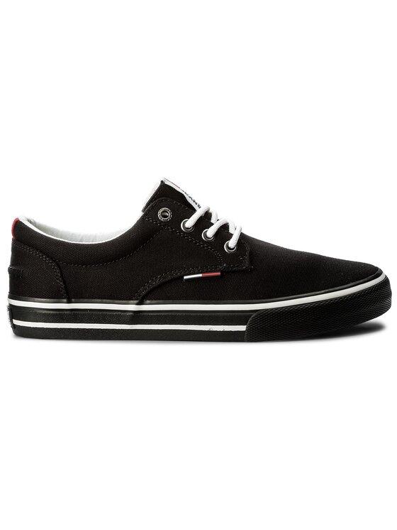 Tommy Jeans Tommy Jeans Sportbačiai Textile Sneaker EM0EM00001 Juoda