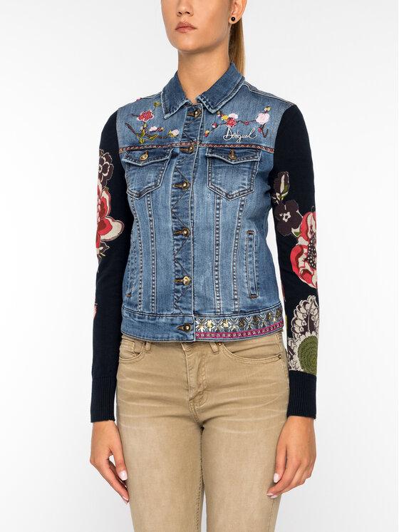 Desigual Desigual Kurtka jeansowa 19WWED30 Granatowy Regular Fit