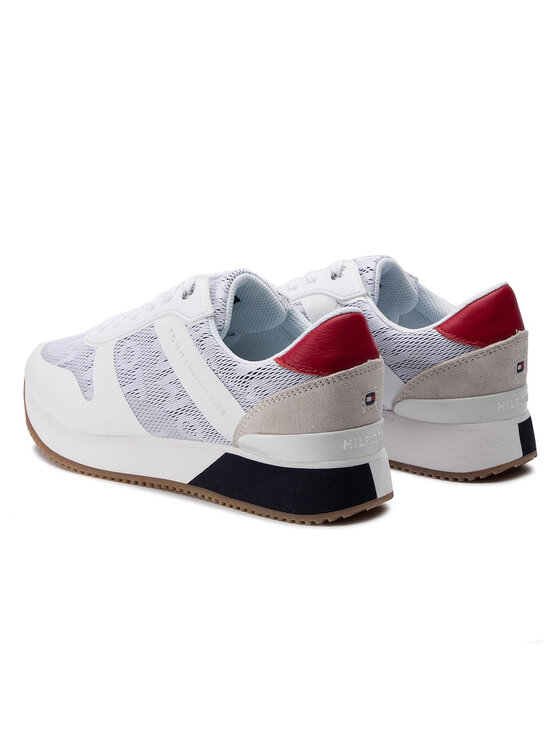 TOMMY HILFIGER TOMMY HILFIGER Сникърси Tommy Jacquard City Sneaker FW0FW04026 Бял