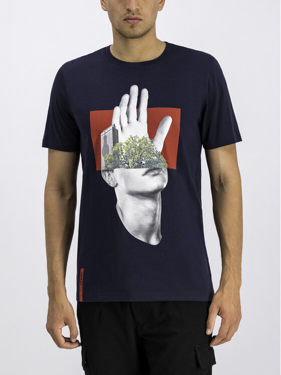 Hugo Hugo T-Shirt 50414186 Tmavomodrá Regular Fit