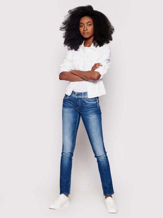 Pepe Jeans Pepe Jeans Jeansy New Brooke PL200019 Modrá Slim Fit