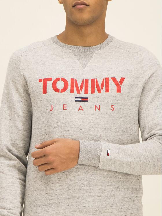 Tommy Jeans Tommy Jeans Mikina Tjm Melange Tommy Crew DM0DM07401 Sivá Slim Fit