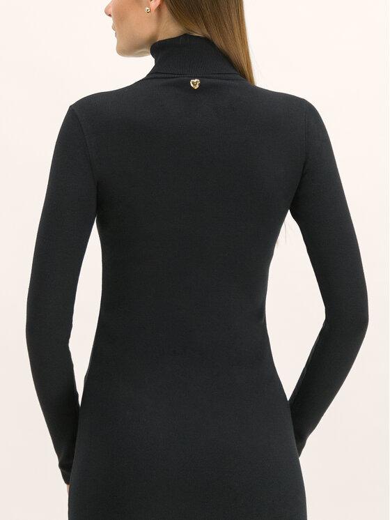 My Twin My Twin Sukienka dzianinowa 192MT3014 Czarny Regular Fit