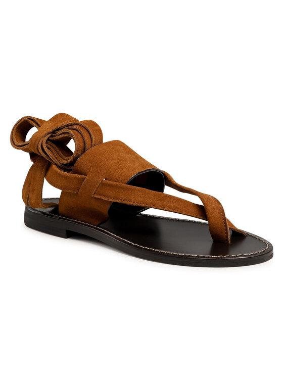 TWINSET Basutės Sandalo 211TCT060 Ruda