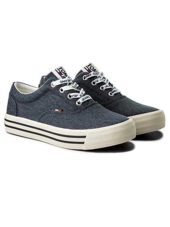 Tommy Jeans Tommy Jeans Sportbačiai Sneaker EN0EN00166 Tamsiai mėlyna