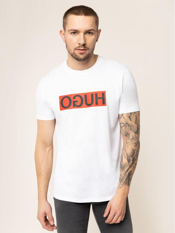 Hugo Hugo T-Shirt 50417216 Bílá Regular Fit