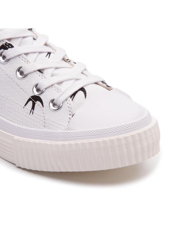 MCQ Alexander McQueen MCQ Alexander McQueen Sneakers aus Stoff Plimsoll Low 472452 R2558 9024 Weiß
