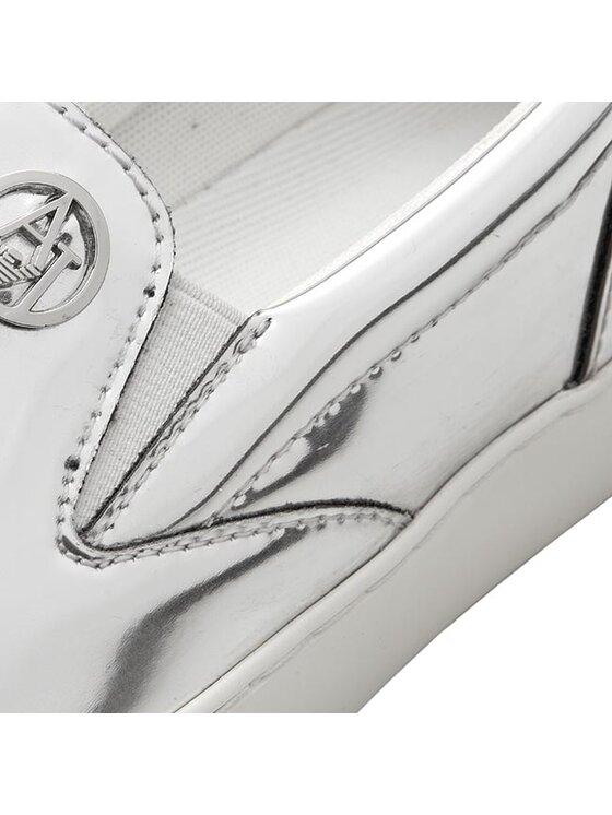 Armani Jeans Armani Jeans Tenisówki C55D5 62 81 Srebrny