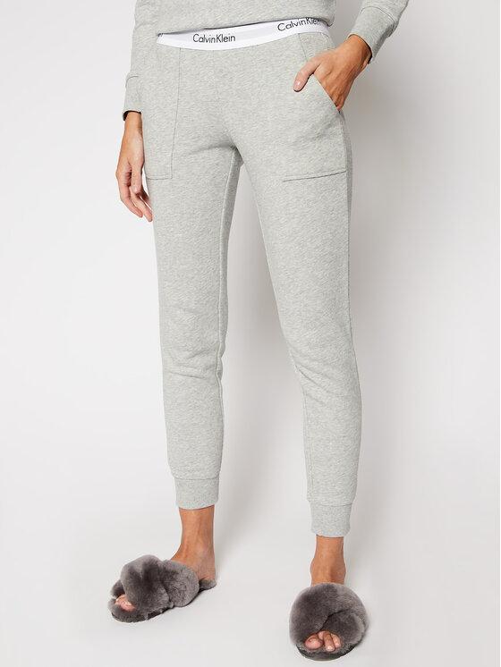 Calvin Klein Underwear Calvin Klein Underwear Spodnie dresowe 000QS5716E Szary Straight Leg