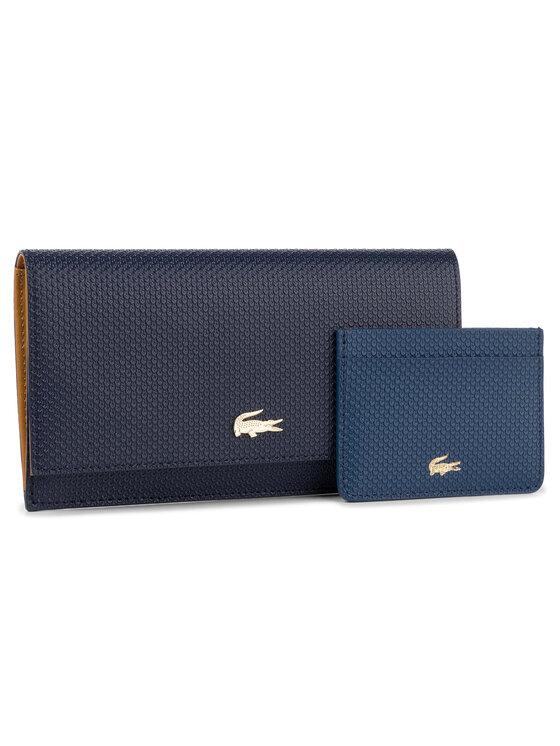 Lacoste Lacoste Nagy női pénztárca Slim Wallet Cc Holder NF2738CE Sötétkék