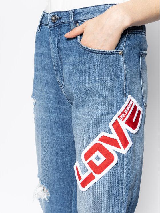 LOVE MOSCHINO LOVE MOSCHINO Jeansy Regular Fit WQ38139T 9349 Niebieski Regular Fit