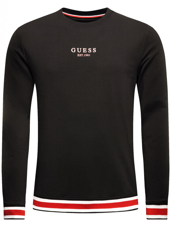 Guess Guess Bluza M01Q40 K6ZS0 Czarny Regular Fit