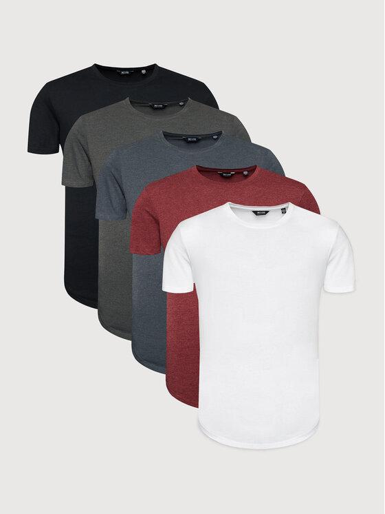 Only & Sons 5 marškinėlių komplektas Matt 22012786 Spalvota Regular Fit